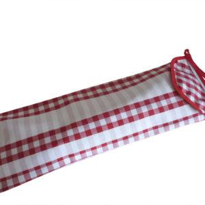 Sac a pain en tissu rouge et blanc GUINGUETTE