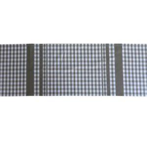 Chemin de table en coton à carreaux gris GUINGUETTE