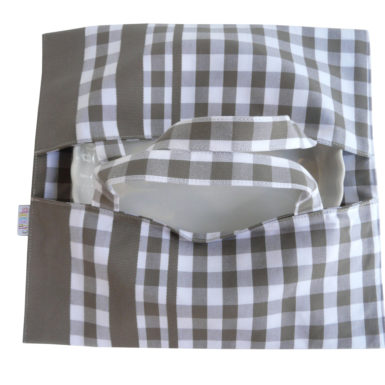 Sac à tarte – Porte Plat à carreaux gris GUINGUETTE