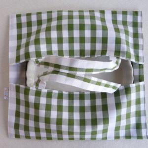 Sac à tarte - Porte Plat à carreaux vert GUINGUETTE