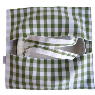 Sac à tarte – Porte Plat à carreaux vert GUINGUETTE