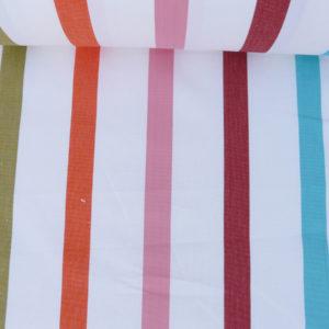Tissu au mètre en coton blanc TUTTI FRUTTI
