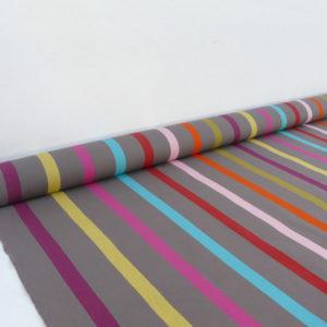 Tissu au mètre en coton gris TUTTI FRUTTI