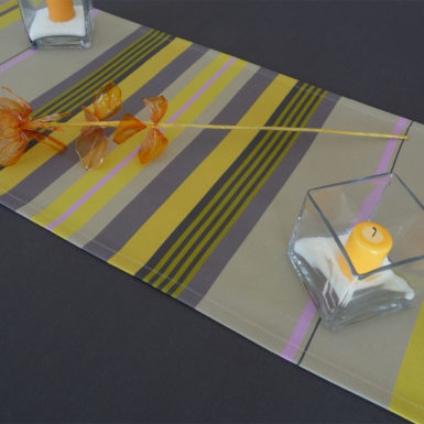 Chemin de table en coton jaune MIREPOIX