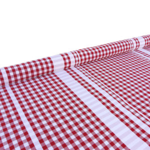 Tissu au mètre en coton à carreaux rouge GUINGUETTE