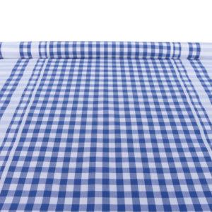 Tissu au mètre en coton à carreaux bleu GUINGUETTE
