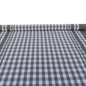 Tissu au mètre à carreaux gris GUINGUETTE