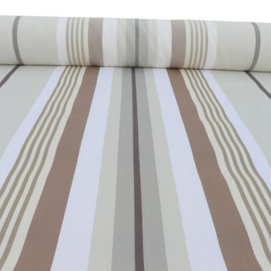 Tissu au mètre en coton chocolat caramel MIREPOIX