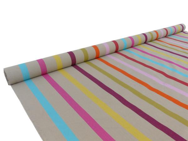 Tissu au mètre en coton sable TUTTI FRUTTI
