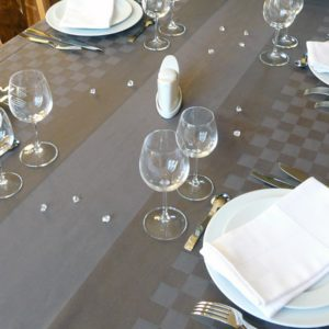 Nappe de table gris ROQUEFIXADE