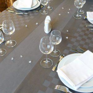 Nappe de table gris ROQUEFIXADE