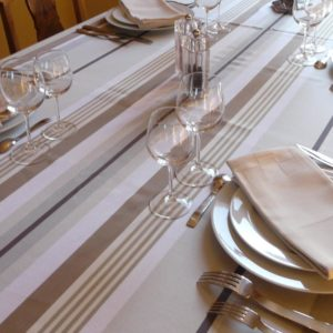 Nappe de table chocolat caramel MIREPOIX