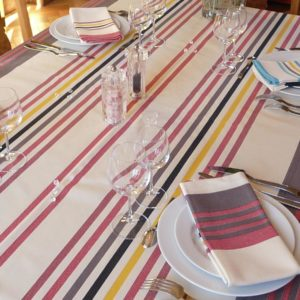 Nappe de table rouge CAMON