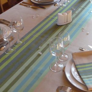 Nappe de table vert AUTHENTIQUE