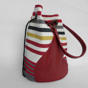 Sac bourse rouge coloré CAMON