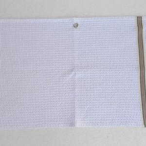 Serviette de bain en coton blanc NID D'ABEILLE