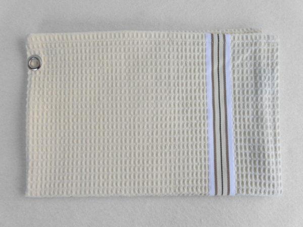 Serviette de bain en coton naturel NID D'ABEILLE