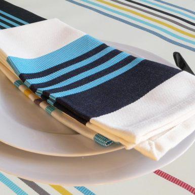 Serviette de table bleu CAMON