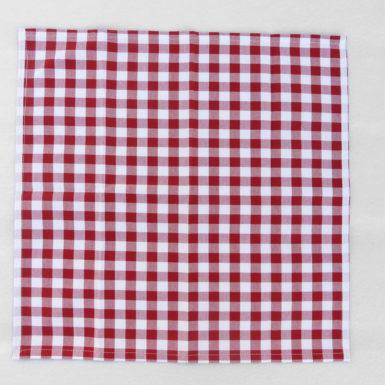 Ensemble nappe et serviette assortis rouge carreaux GUINGUETTE