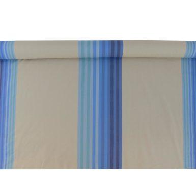 Tissu au mètre en coton rayé bleu océan AUTHENTIQUE