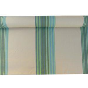 Tissu au mètre en coton rayé vert AUTHENTIQUE