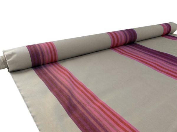 Tissu au mètre en coton rayé rouge carmin AUTHENTIQUE