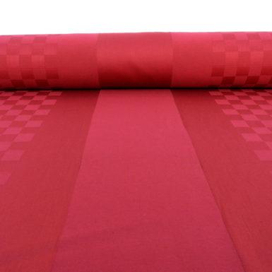Tissu au mètre rouge ROQUEFIXADE