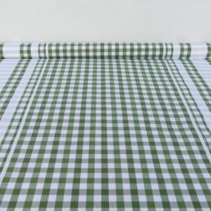 Tissu au mètre en coton à carreaux vert GUINGUETTE