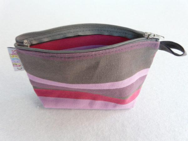 Trousse de toilette rose marque TISSAGES CATHARES