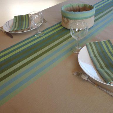 Nappe de table vert AUTHENTIQUE