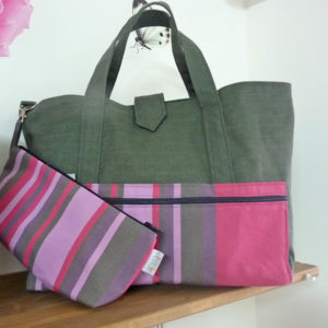 Sac fourre tout rose TISSAGES CATHARES