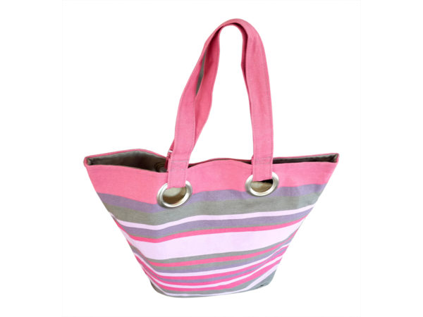 Sac shopping rose TISSAGES CATHARES