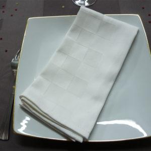 Serviette de table blanc Roquefixade