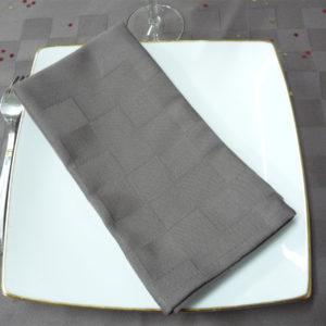 Serviette de table gris ROQUEFIXADE