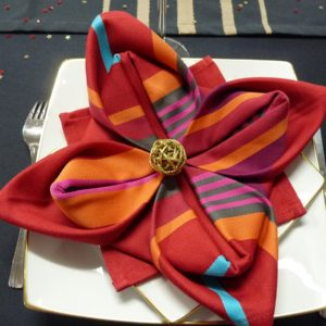 Serviette de table rouge MIREPOIX