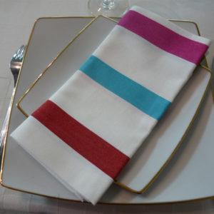 Serviette de table blanc TUTTI FRUTTI