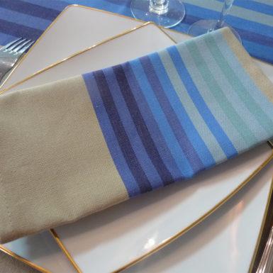 Serviette de table bleu AUTHENTIQUE