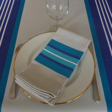 Serviette de table bleu PUIVERT