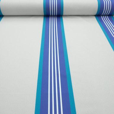 Tissu au mètre damassé bleu Océan PUIVERT