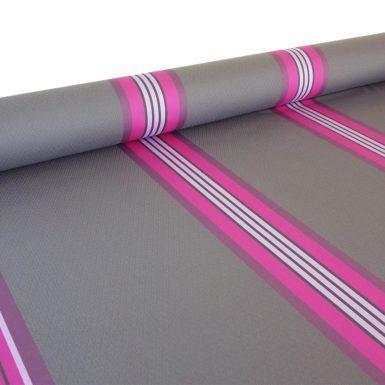 Tissu au mètre damassé gris et rose PUIVERT
