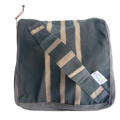 Trousse vanity anthracite et or TISSAGES CATHARES