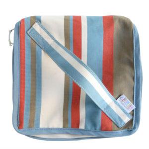 Trousse vanity bleu Azur et rouge TISSAGES CATHARES