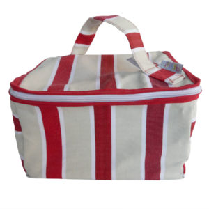 Trousse vanity rayure rouge TISSAGES CATHARES