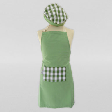 Calot-et-tablier-de-cuisine-coton-vert-blanc-carreaux-3