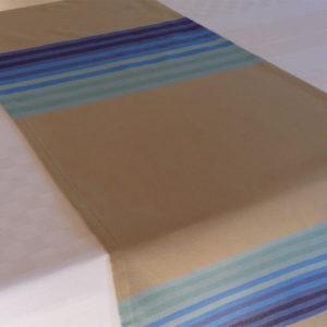 Chemin de table en coton bleu AUTHENTIQUE