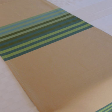 Chemin de table en coton vert AUTHENTIQUE