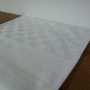 Chemin de table en coton blanc ROQUEFIXADE