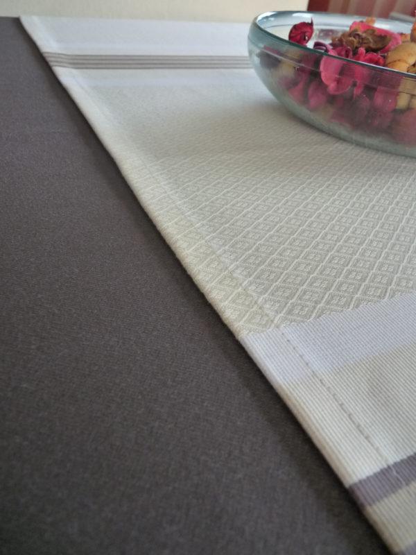 Chemin de table naturel en coton PUIVERT