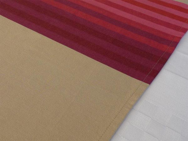 Chemin de table en coton rouge AUTHENTIQUE