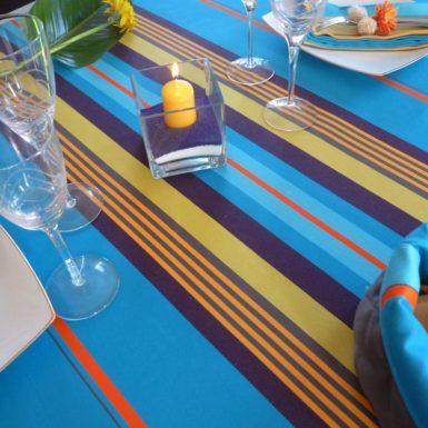 Nappe de table bleue MIREPOIX